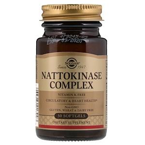 Солгар, Nattokinase Complex, 30 Softgels отзывы