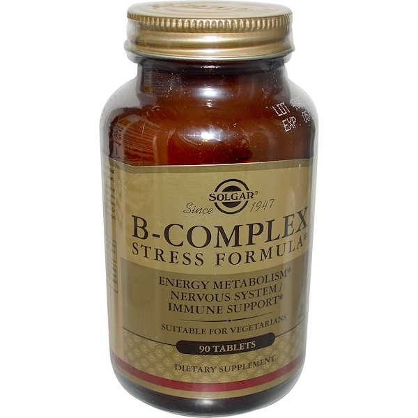 Solgar, B-Complex Stress Formula, 90 Tablets (Discontinued Item)