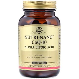 Solgar, Nutri-Nano CoQ-10 Alpha Lipoic Acid, 60 Softgels