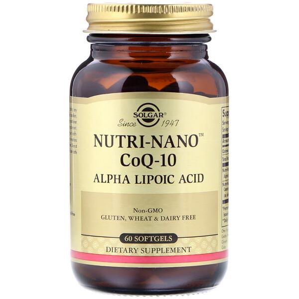 Nutri-Nano CoQ-10, Alpha Lipoic Acid, 60 Softgels