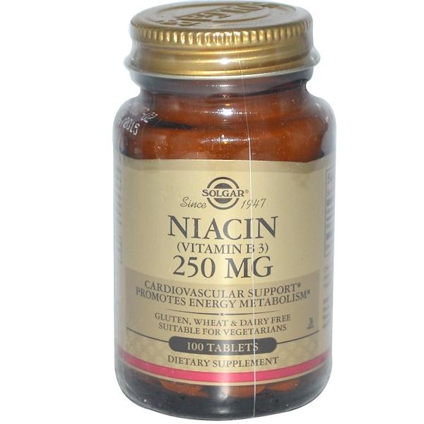 Solgar, Niacin, 250 mg, 100 Tablets (Discontinued Item)