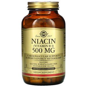 Солгар, Vitamin B3 (Niacin), 500 mg, 250 Vegetable Capsules отзывы покупателей