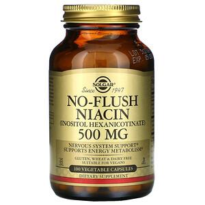 Солгар, No-Flush Niacin, 500 mg, 100 Vegetable Capsules отзывы покупателей