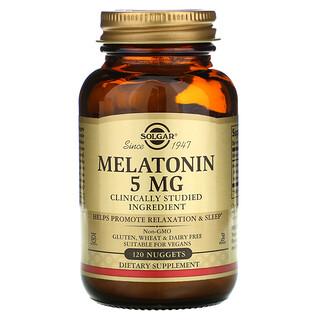 Solgar, Melatonin, 5 mg, 120 Nuggets