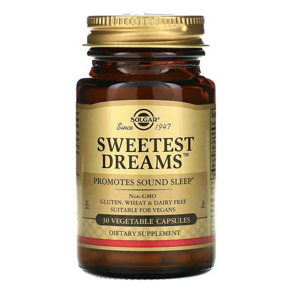 Sweetest Dreams, 30 Vegetable Capsules