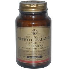 Solgar, Sublingual Methylcobalamin (Vitamin B12), 1000 mcg, 60 Nuggets