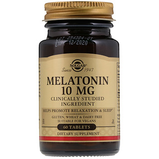 Solgar, Melatonina, 10 mg, 60 Comprimidos