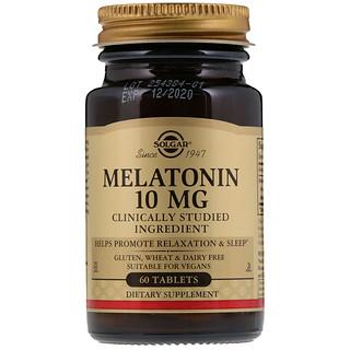 Solgar, Мелатонин, 10мг, 60таблеток