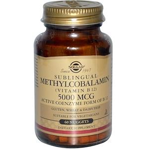Solgar, Сублингвальный Метилкобаламин, 60 капсула
