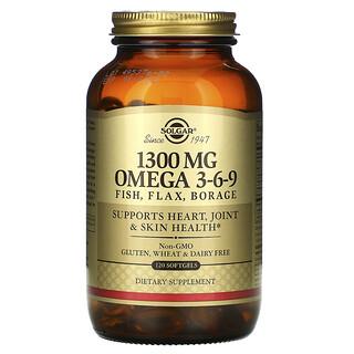 Solgar, 歐米茄 3-6-9,1300毫克,120粒軟膠囊