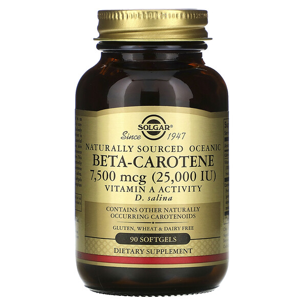Naturally Sourced Oceanic Beta-Carotene, 7,500 mcg (25,000 IU), 90 Softgels