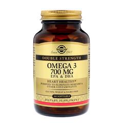 Solgar, Омега-3, 700 мг, 60 мягких капсул