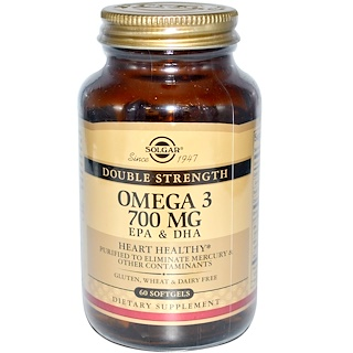 Solgar, オメガ-3, 700 mg, 60 ソフトジェル