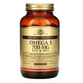 Solgar, Oméga-3, EPA et DHA, Double puissance, 700mg, 120capsules à enveloppe molle