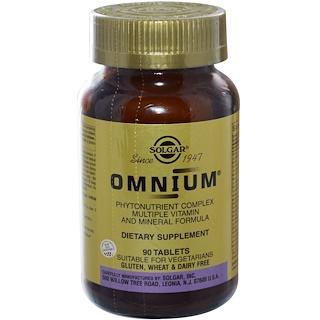 Solgar, オムニウム®, フィトニュートリエント・コンプレックス マルチビタミンとミネラルフォーミュラ, 90 錠