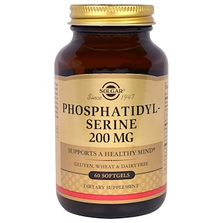 Solgar, Phosphatidylserine, 200 mg, 60 Softgels