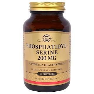 Solgar, ホスファチジルセリン, 200 mg, 60 ソフトジェル