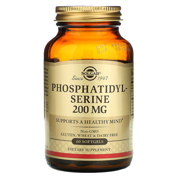 Phosphatidylserine, 200 mg, 60 Softgels