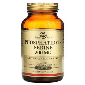 Солгар, Phosphatidylserine, 200 mg, 60 Softgels отзывы