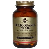 Solgar, 폴리코사놀, 20 mg, 100 배지 캡