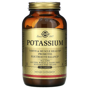 Солгар, Potassium, 250 Tablets отзывы покупателей