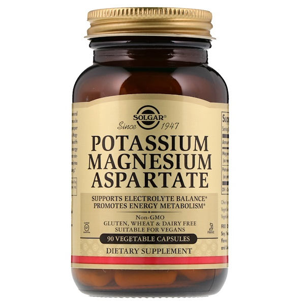 Potassium Magnesium Aspartate, 90 Vegetable Capsules