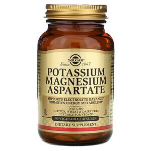 Солгар, Potassium Magnesium Aspartate, 90 Vegetable Capsules отзывы покупателей