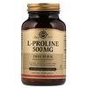 Solgar, L-Proline, 500 mg, 100 Vegetable Capsules