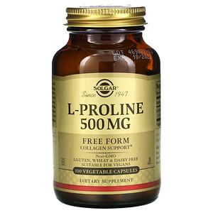 Солгар, L-Proline, 500 mg, 100 Vegetable Capsules отзывы