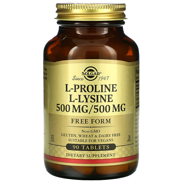 L-Proline & L-Lysine, 90 Tablets