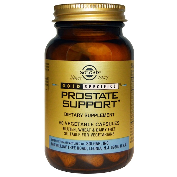 Solgar, Gold Specifics, Prostate Support, 60 Vegetable Capsules