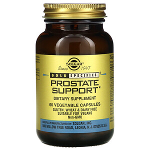 Солгар, Gold Specifics, Prostate Support, 60 Vegetable Capsules отзывы