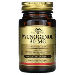 Solgar, Pycnogenol ,30 毫克,30 粒素食膠囊