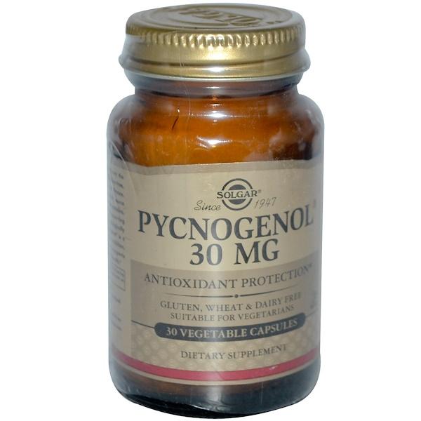 Solgar, Pycnogenol, 30 mg, 30 Vegetable Capsules