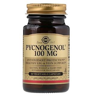 Solgar, Pycnogenol, 100 mg, 30 Cápsulas Vegetais
