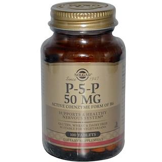 Solgar, P-5-P、50 mg,、100錠