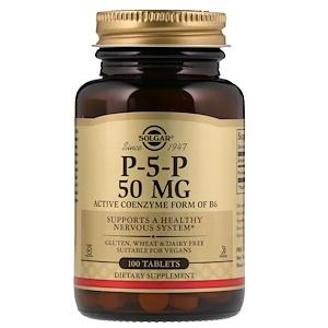 Солгар, P-5-P, 50 mg, 100 Tablets отзывы