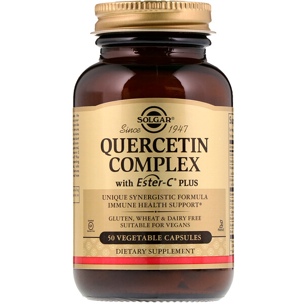 Solgar, Quercetin Complex, with Ester-C Plus, 50 Vegetable Capsules