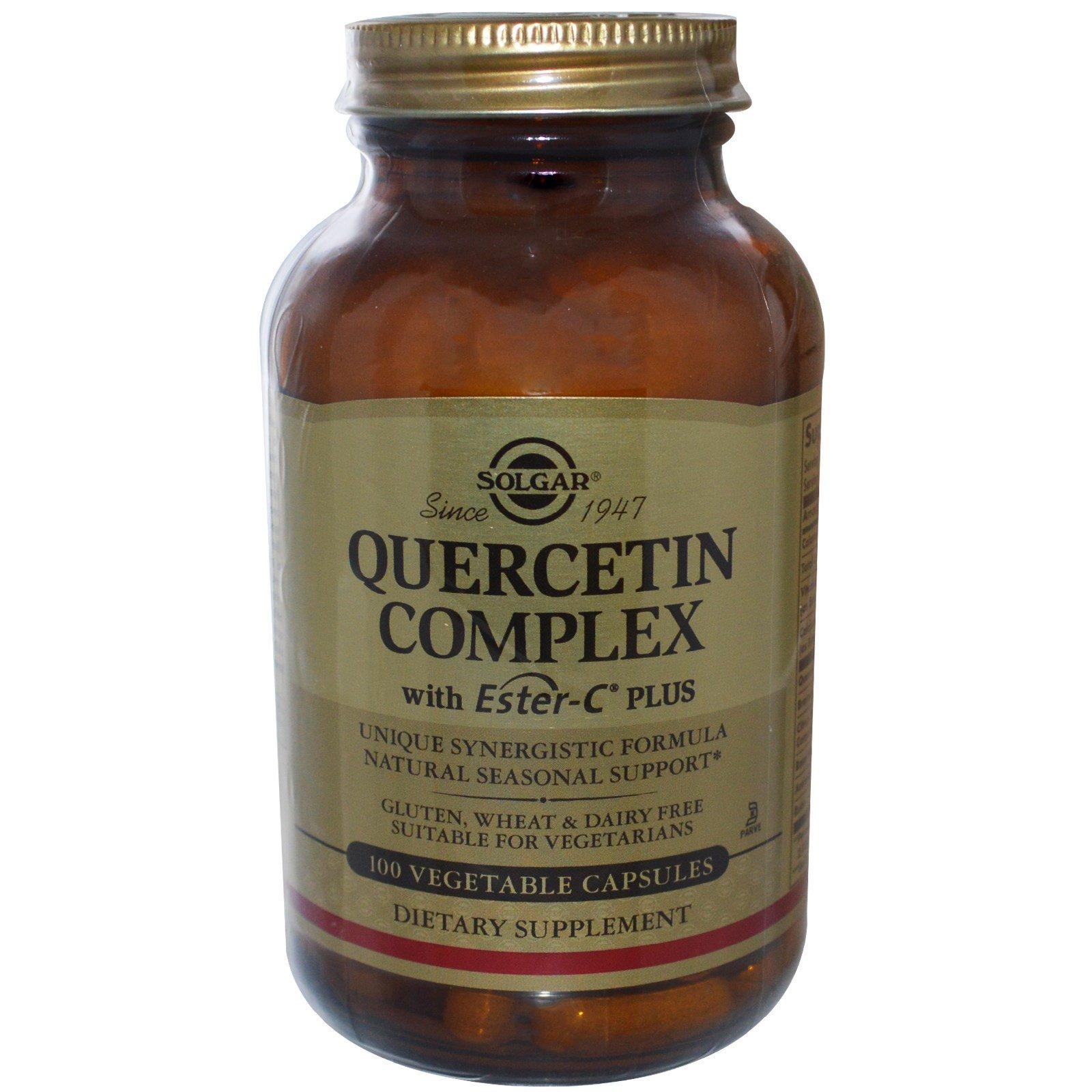 Solgar, Комплекс с кверцетином, 100 растительных капсул