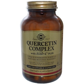 Solgar, Quercetin Complex, with Ester-C Plus, 100 Vegetable Capsules