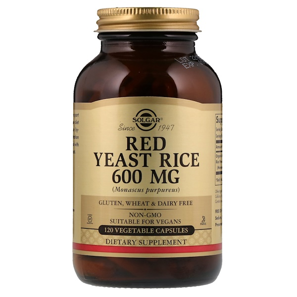 Red Yeast Rice, 600 mg, 120 Vegetable Capsules