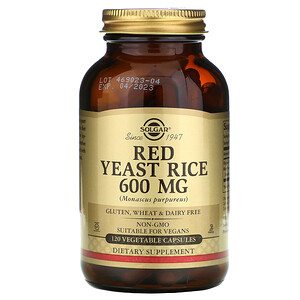 Солгар, Red Yeast Rice, 600 mg, 120 Vegetable Capsules отзывы