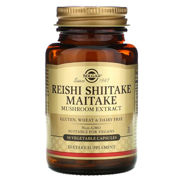 Extrato de Cogumelo Reita Shiitake Maitake, 50 Cápsulas Vegetais