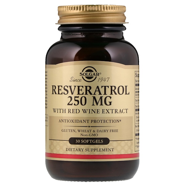 Resveratrol, 250 mg, 30 Softgels