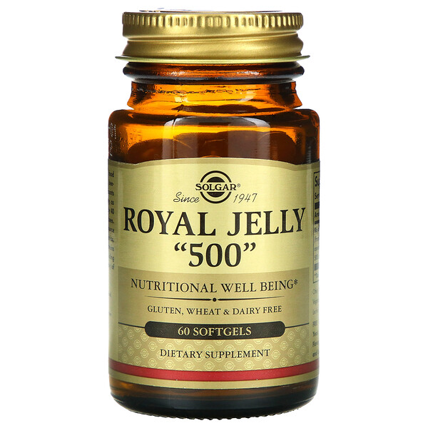 Solgar, Royal Jelly 500, 60 Softgels