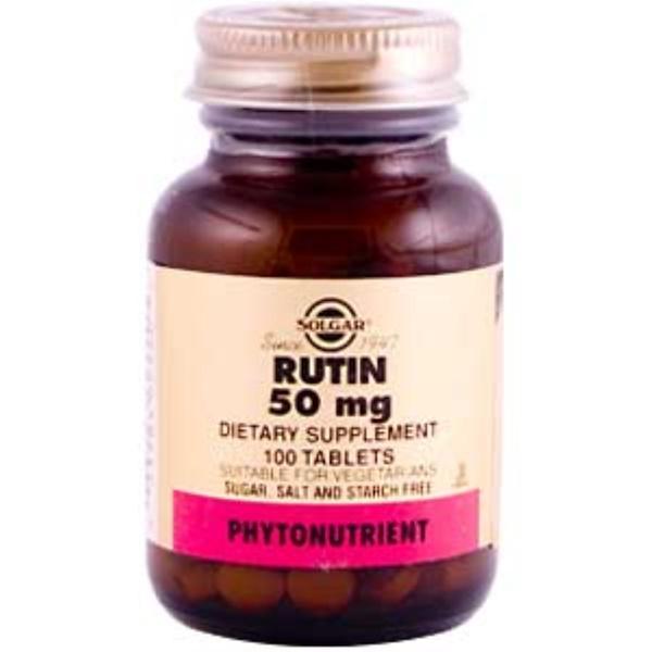 Solgar, Рутин, 50 мг, 100 таблеток (Discontinued Item)