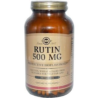 Solgar, ルチン, 500 mg, 250 錠剤