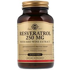 Solgar, Resveratrol, 250 mg, 60 Cápsulas Gelatinosas