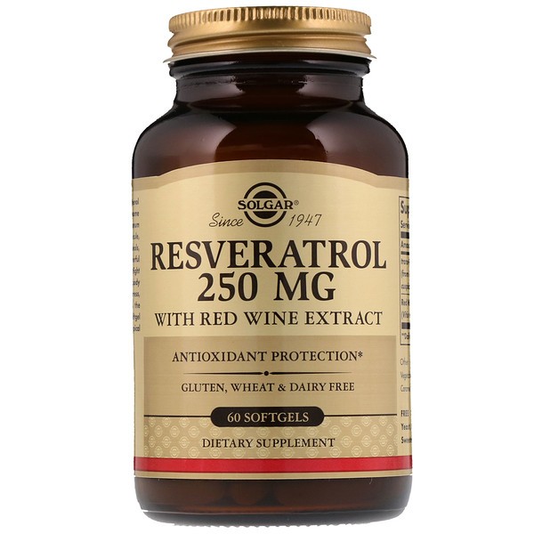 Resveratrol, 250 mg, 60 Softgels