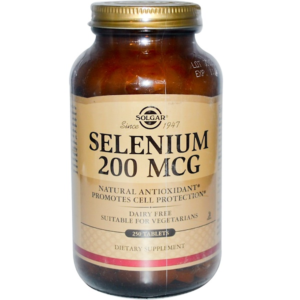 Solgar, Selenium, 200 mcg, 250 Tablets (Discontinued Item)